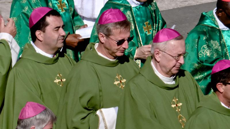 Alain de Raemy (mit Sonnenbrille),  Schweizer Jugendbischof an der Jugendsynode. | © Oliver Sittel