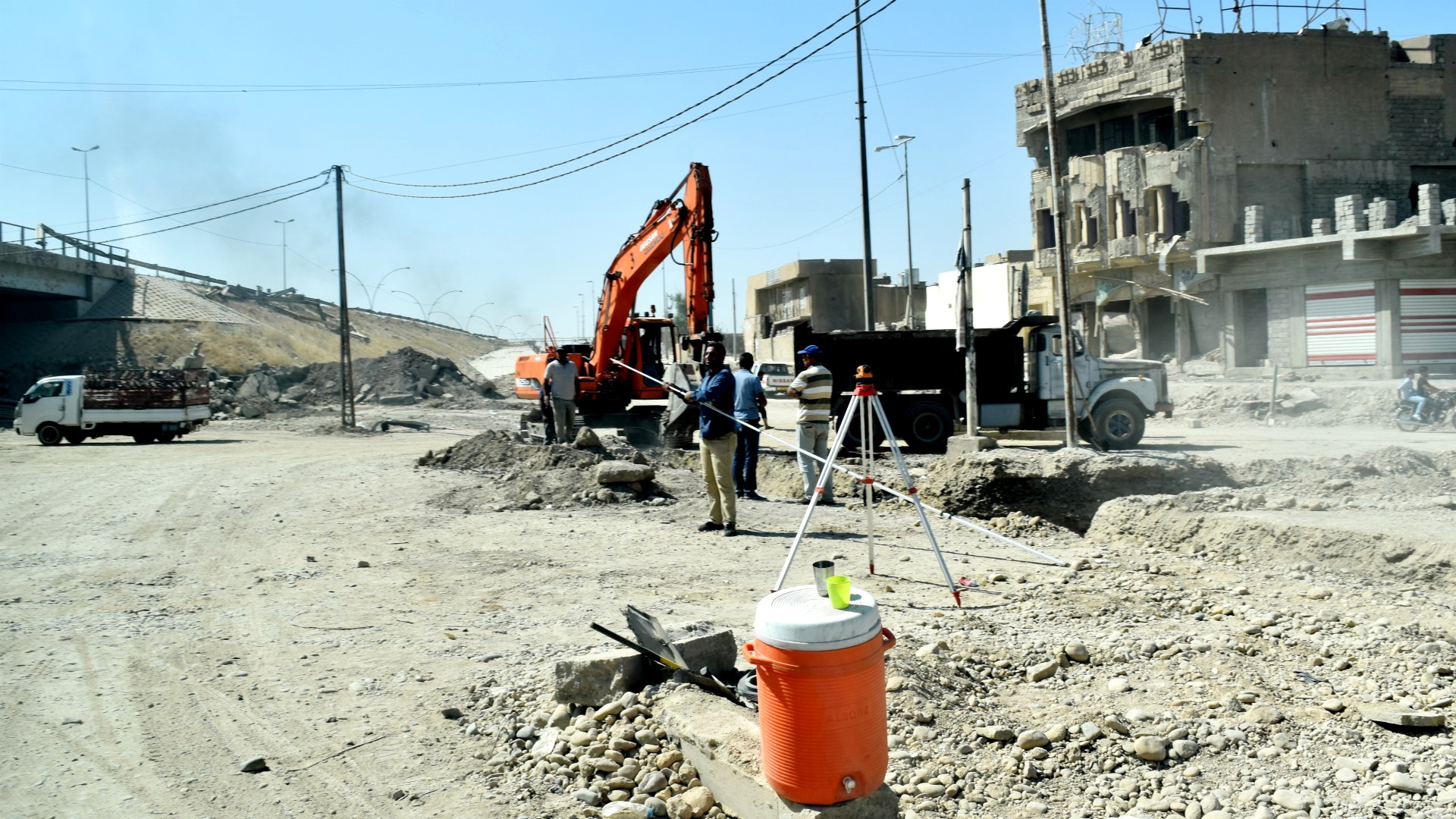 Wiederaufbauarbeiten in Mossul   © Jacques Berset