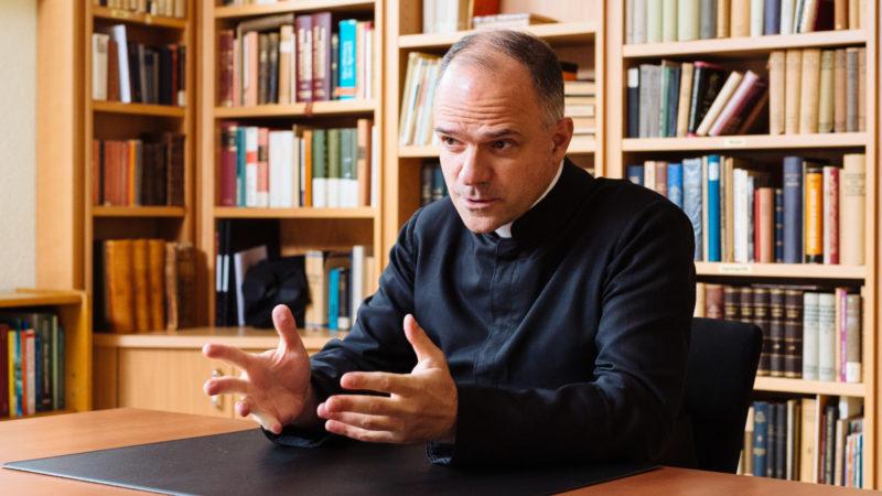 Davide Pagliarani, Generaloberer der Piusbrüder | © KNA