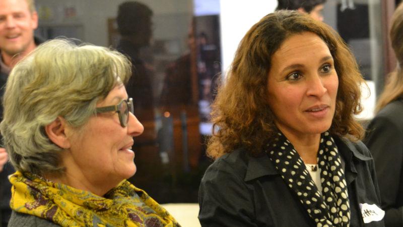 Ada Winter und Sihem Tanner an der Vernissage zur Ausstellung | © Sylvia Stam