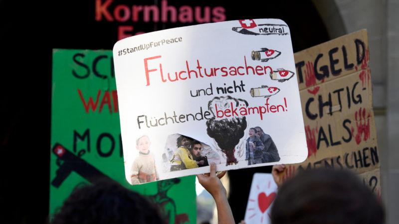Kundgebung gegen Waffenexporte in Bern | © Keystone