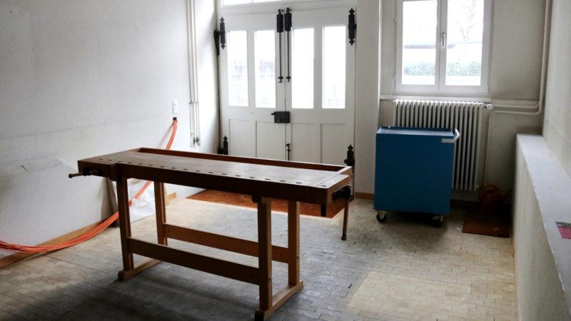 In der Werkstatt soll ab April ein Kiosk-Café seine Türen öffnen.   © Claudia Koch