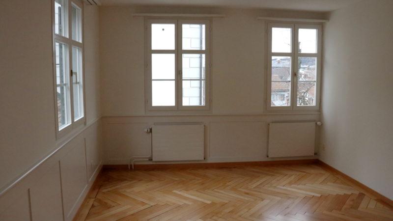 Die Zimmer der Wohnungen sind hell und bieten genügend Raum für künftige Mieterinnen und Mieter.   © Claudia Koch
