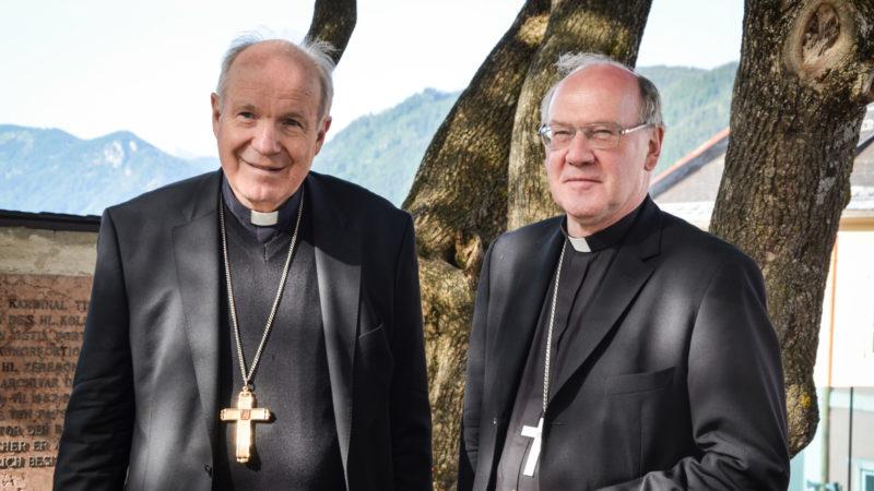 Kardinal Christoph Schönborn mit dem beschuldigten Alois Schwarz, Juni 2018  | © KNA