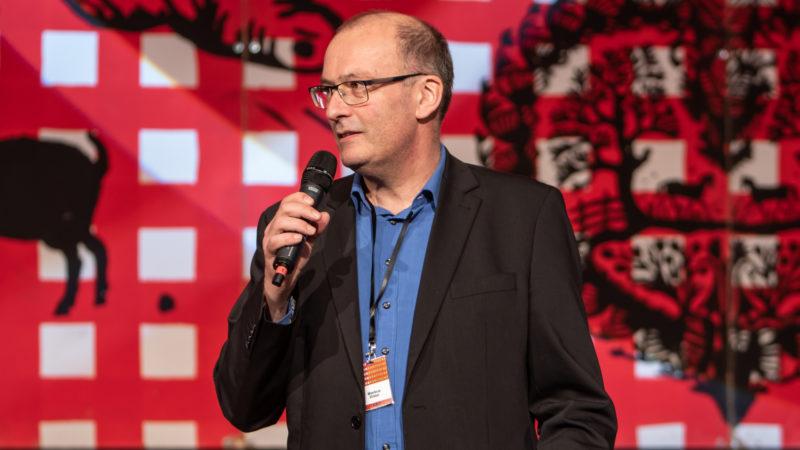 Markus Ritter, Präsident des Schweizerischen Bauernverbandes, an der Bauernkonferenz | © zVg