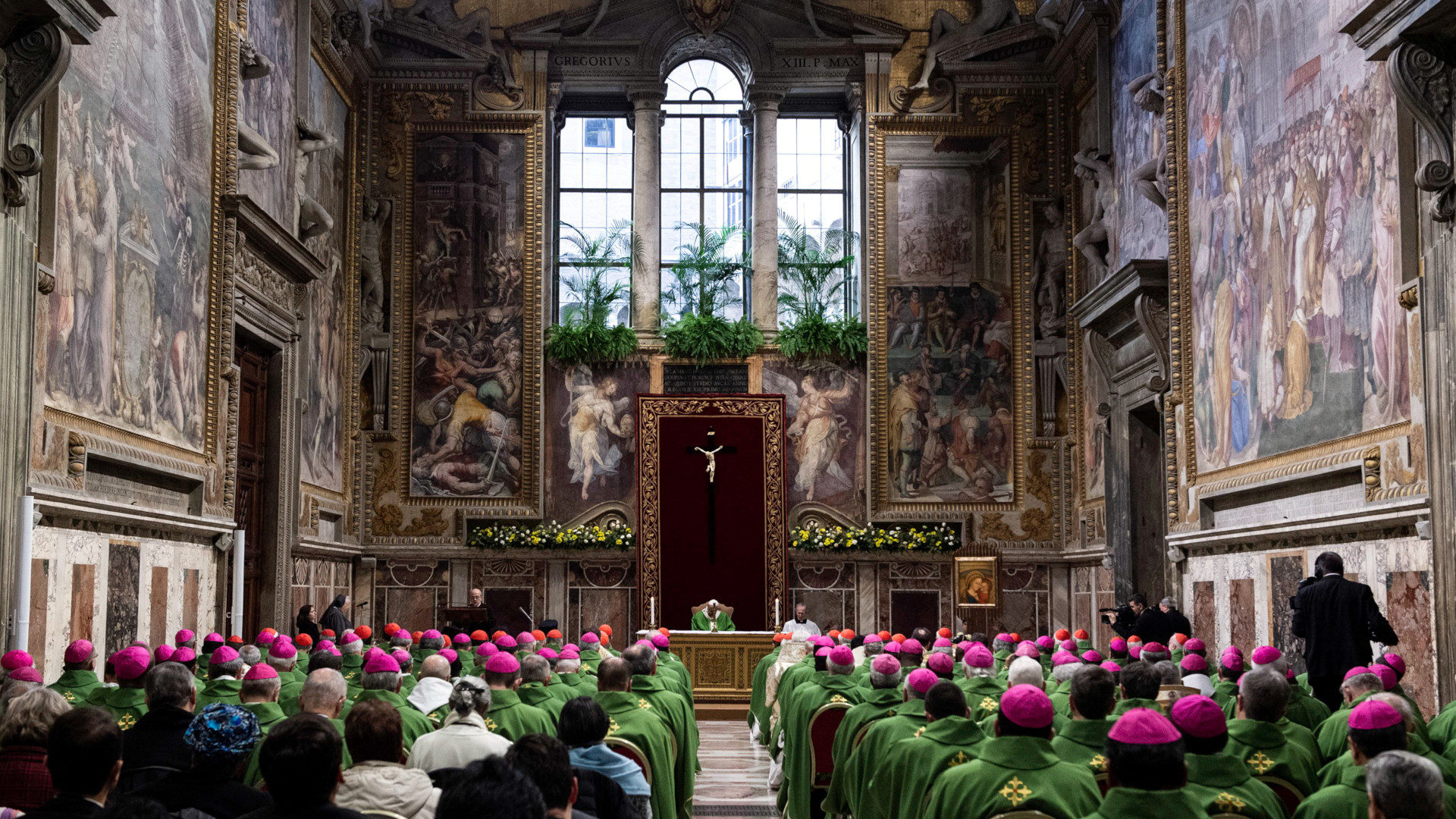 Messe zum Abschluss des Anti-Missbrauchsgipfels mit Papst Franziskus im Sala Regia | © KNA