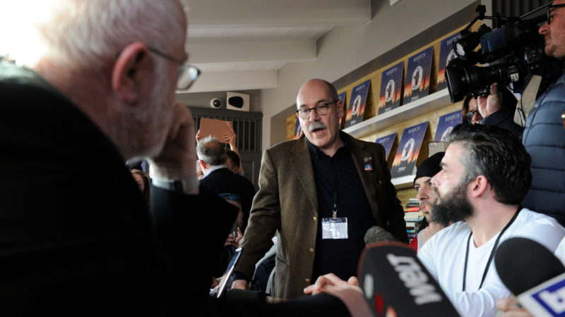 Jean-Marie Fürbringer (mitte) trifft in Rom Kardinal Marx (l.) | © Katarzyna Artymiak