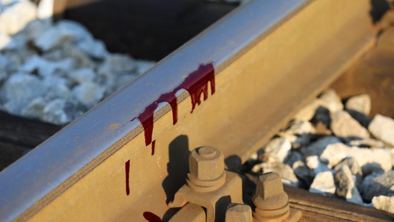 Blut auf dem Geleise | © pixabay.com