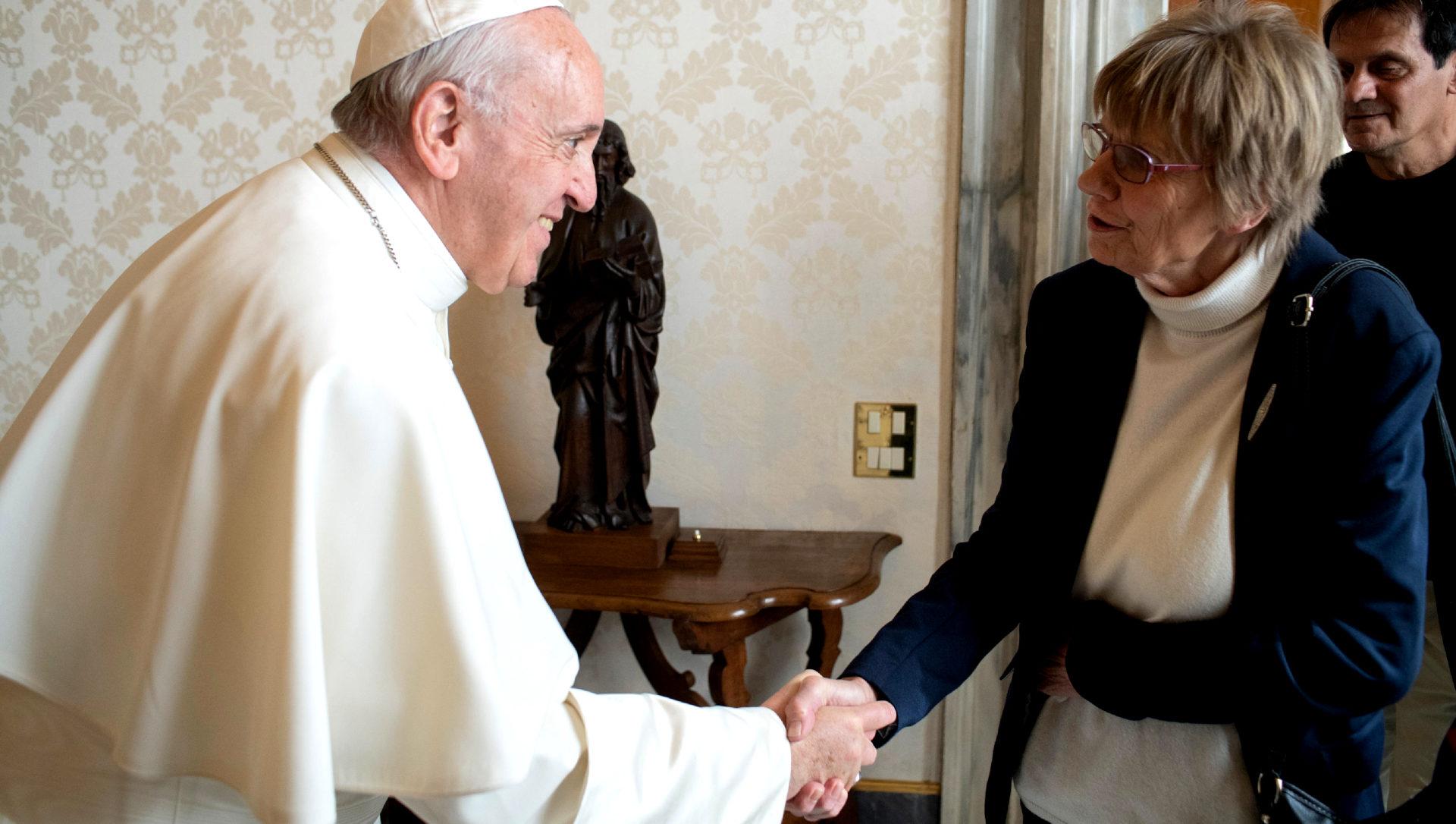 Papst Franziskus und A.W. |  © Servizio Fotografico - Vatican Media
