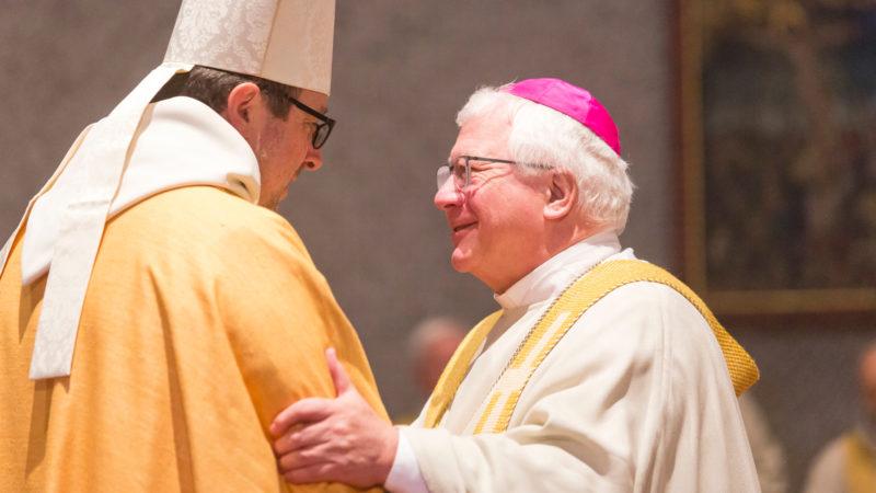 Bischof Markus Büchel (r) und Abt Vinzenz Wohlwend | © Mathis Fotografie GmbH, Hohenems