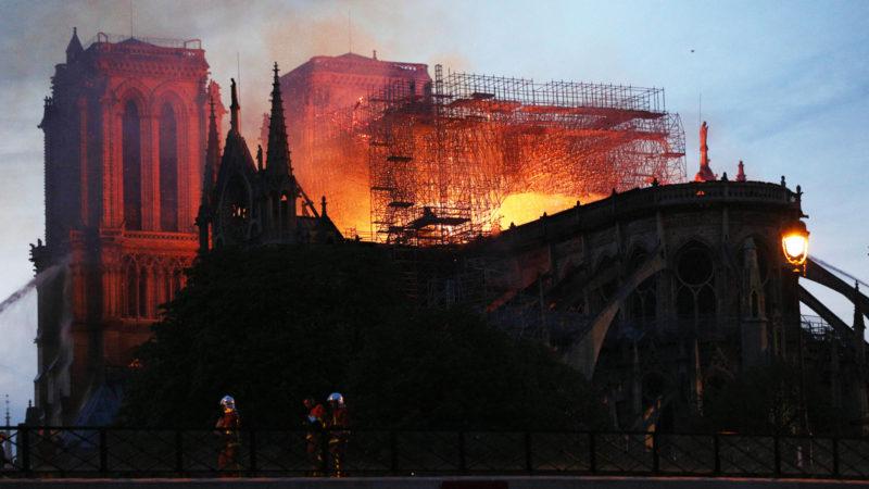 Die Kathedrale Notre-Dame in Paris in Flammen | © Keystone