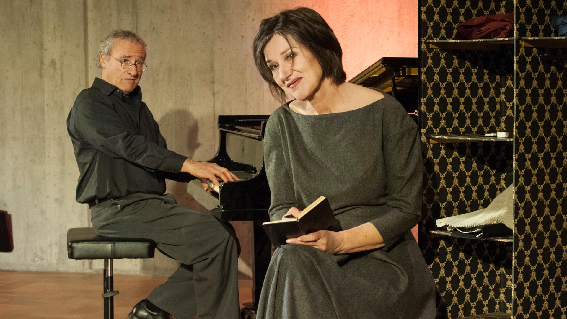 """Christine Lather und Felix Huber spielen """"Ich habe den Himmel gegessen"""".   © zVg"""