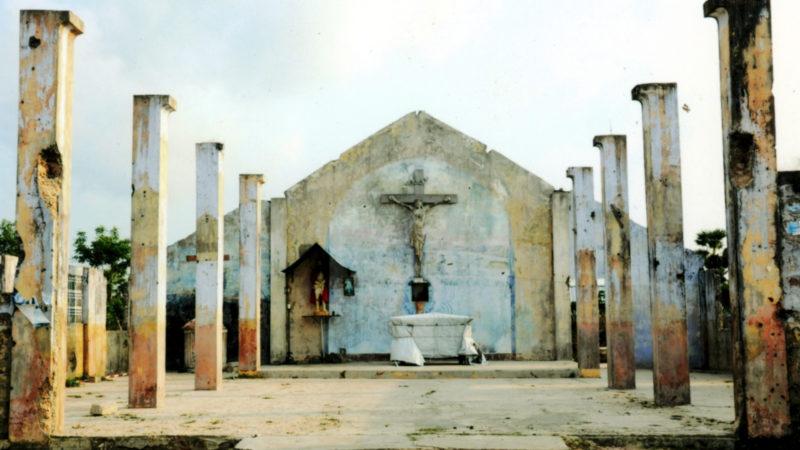 Während des Bürgerkrieges in Sri Lanka zerstörte Kirche  | © Kirche in Not