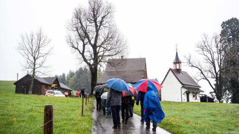 Pilger auf der Stosswallfahrt. | © Vera Rüttimann