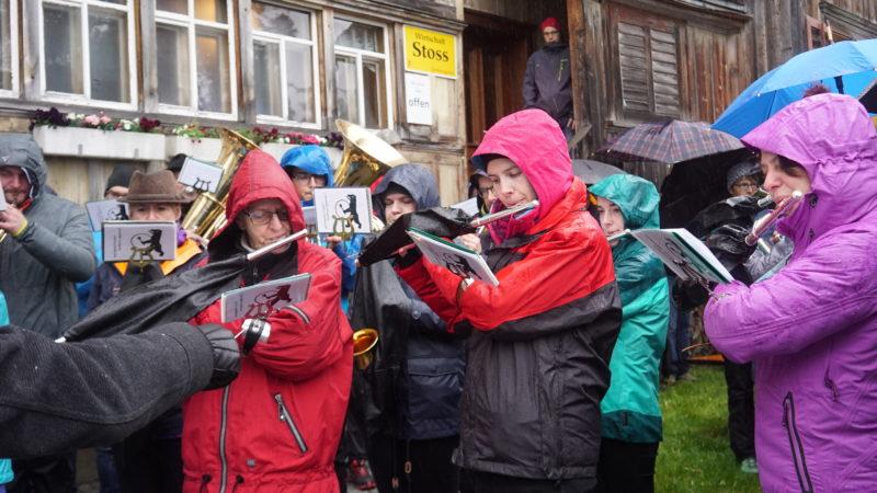 Musikgesellschaft Harmonie Appenzell an der Stosswallfahrt. | © Vera Rüttimann