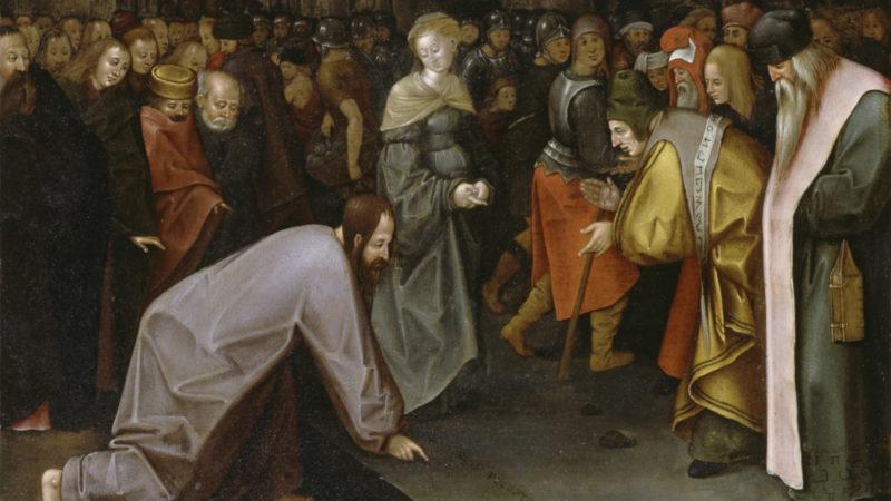 Jesus, die Ehebrecherin und Pharisäer auf einem Gemälde von Pieter Bruegel d. Ä.  | © Keystone