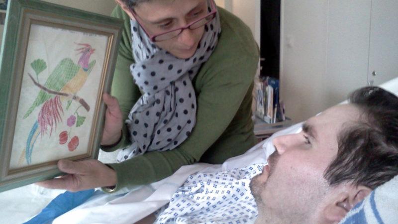 Vincent Lambert (r.) als Koma-Patient und seine Mutter Viviane Lambert, Juli 2013 | © Keystone