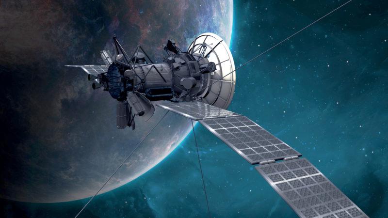 Raumfahrt- und Techunternehmen wollen Tausende Satelliten ins Weltall entsenden.   ©   © Pixabay/PIRO4D, Pixabay License