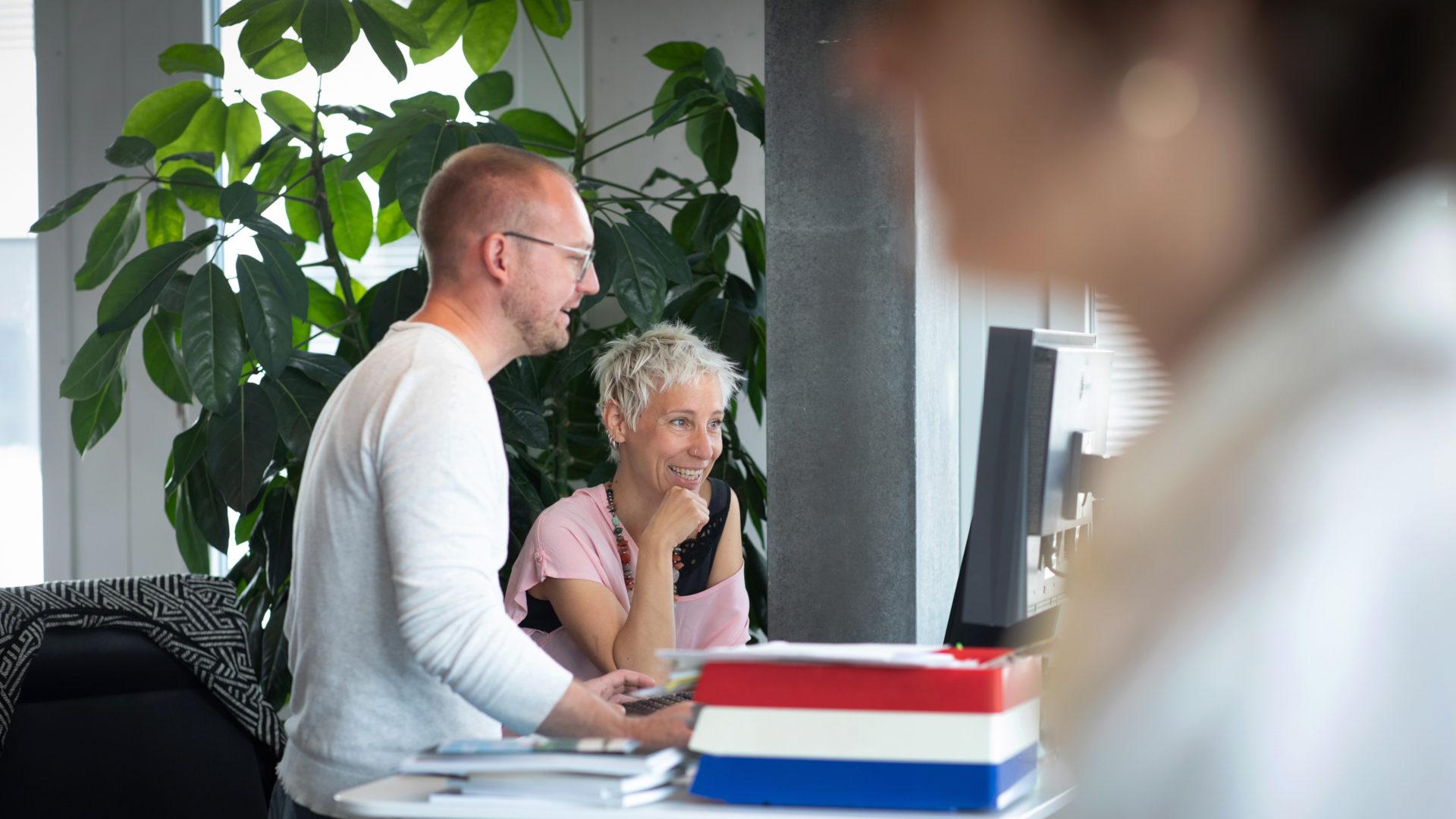 Norman Zöllner und Natalie Fritz gemeinsam am Werk | © Christoph Wider
