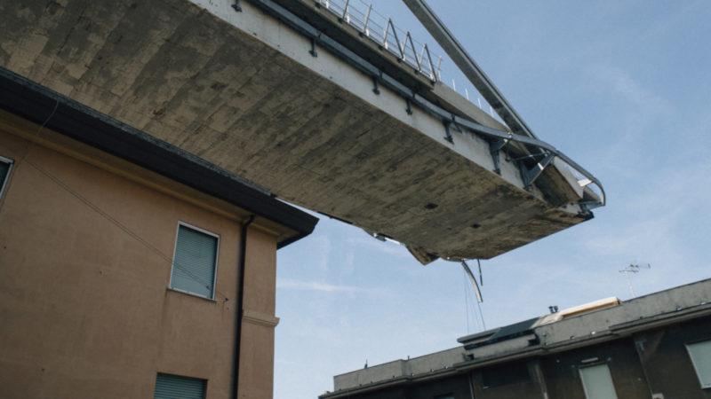 Die eingestürzte Morandi-Brücke in Genua    © Keystone