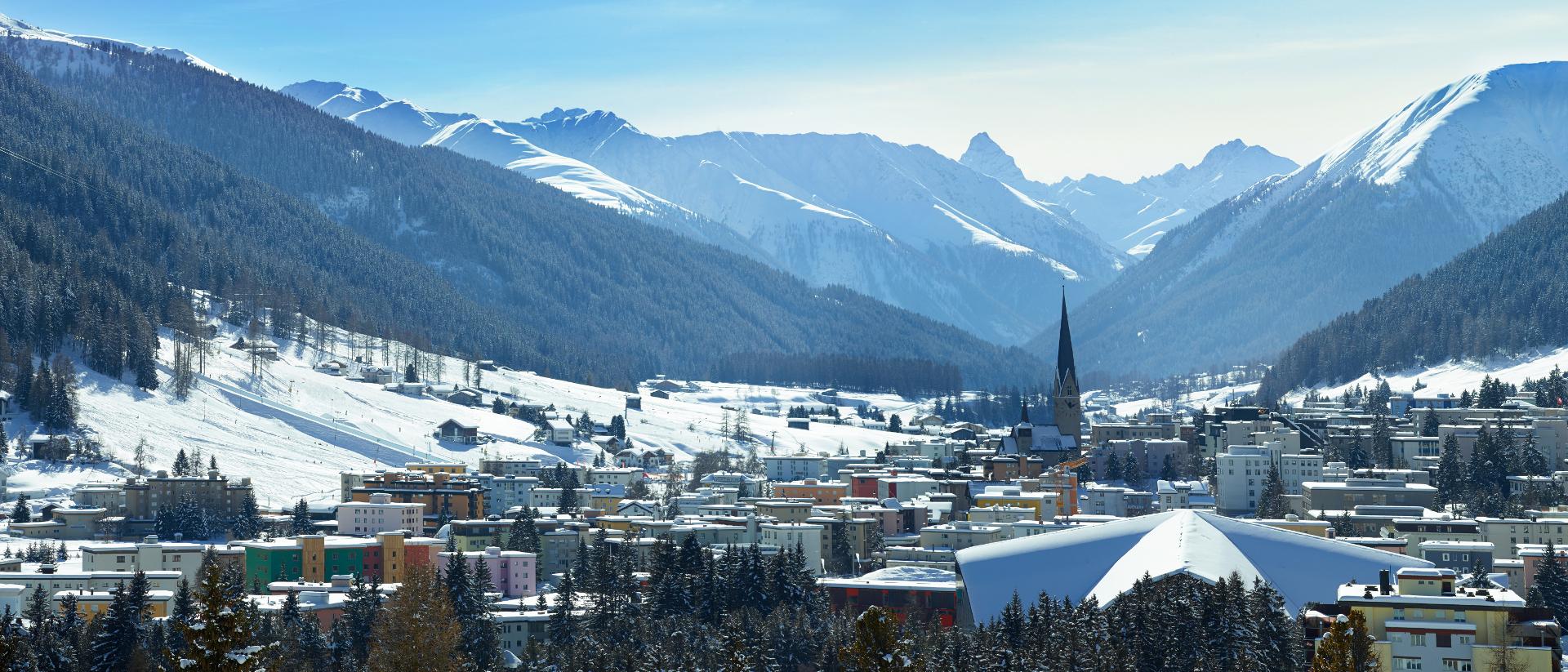 Davos, wo sich Mächtige aus aller Welt am WEF treffen.