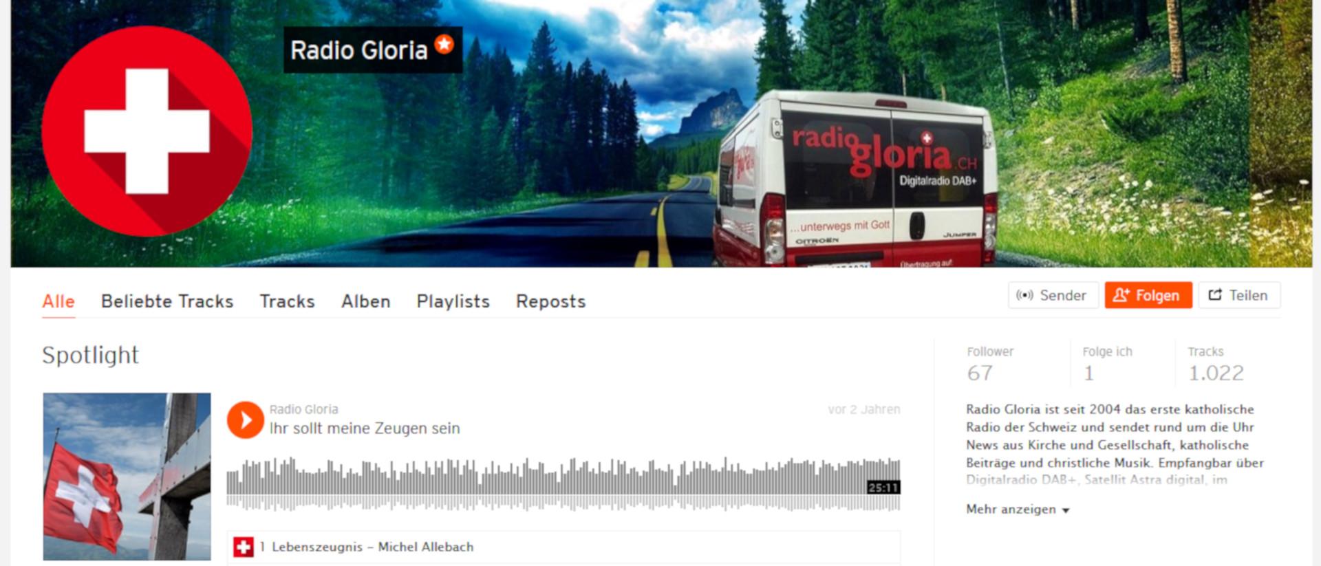 Podcasts bei Radio Gloria