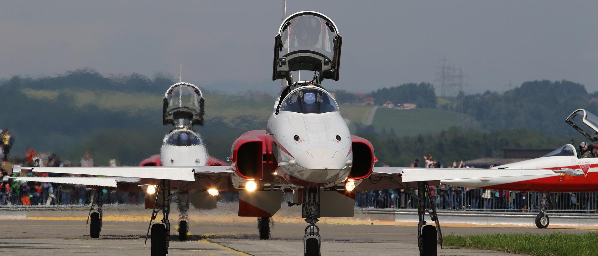 """""""Tiger""""-Kampfjets der Patrouille Suisse"""