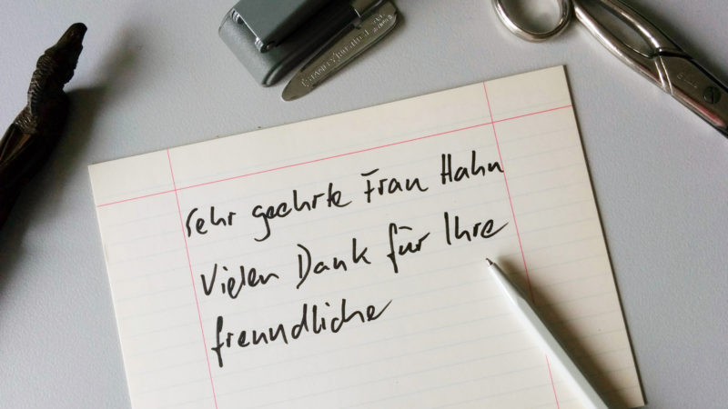 Auch der Briefstil hat sich in den letzten Jahren verändert | © Erich Schweizer