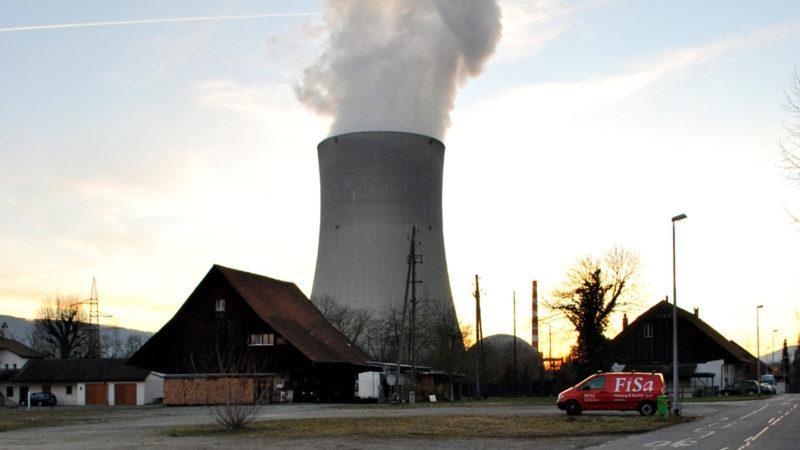 Kernkraftwerk Gösgen im Abendlicht | © Barbara Ludwig