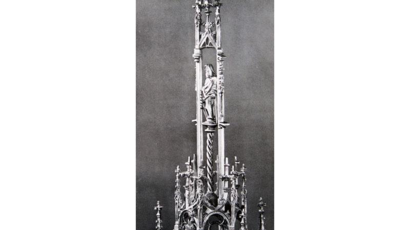 Teilansicht der Sachsler Monstranz von 1516. (Foto: von Matt [1947], Abb. 46)