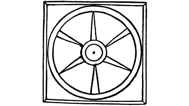 Radskizze aus dem Pilgertraktat von 1487. www.bruderklaus.com