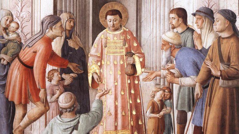 Der heilige Diakon Laurentius, Fra Angelico. Bild: Wikimedia Commons