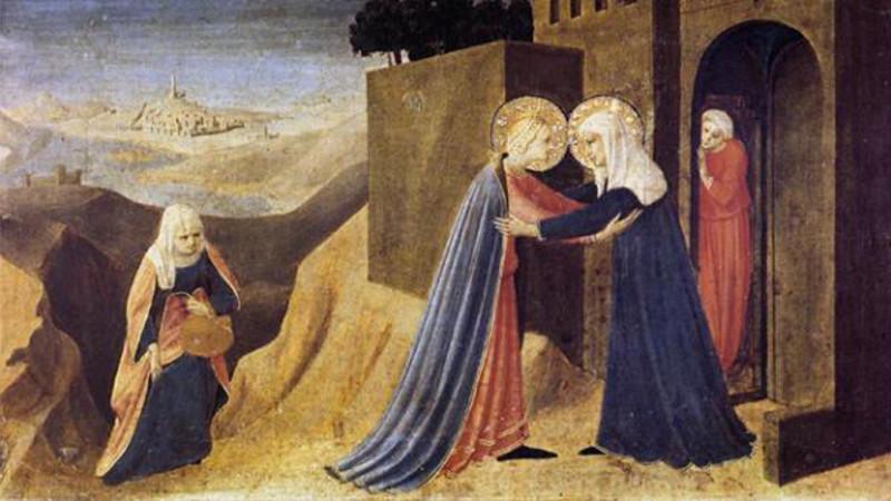 Fra Angelico: Visitation (Musée diocésain de Cortona / Photo: Wikimedia Commons)