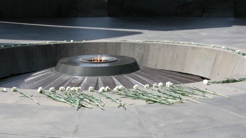 Le mémorial du génocide arménien de 1915 à Erevan (photo Maurice Page)