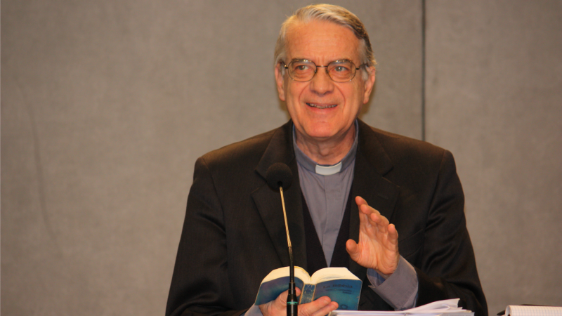 Le Père Federico Lombardi, directeur sortant du Bureau de presse du Saint-Siège (Photo: Bernard Bovigny)
