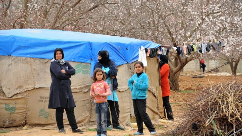 Réfugiés syriens dans  un camp de  la Bekaa, au Liban | © Maurice Page