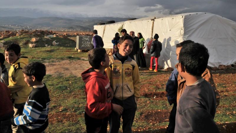 Enfants dans  un camp de réfugiés de la Bekaa, au Liban (photo Maurice Page 2014)