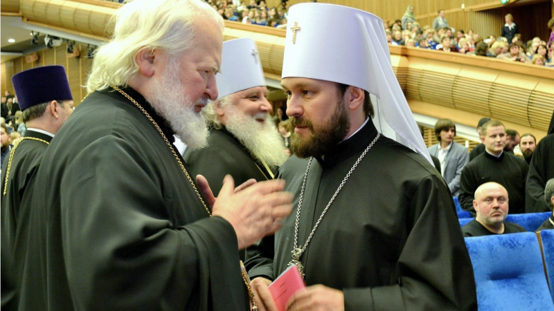 Métropolite Hilarion de Volokolamsk (à droite) (Photo: Patriarcat de Moscou)