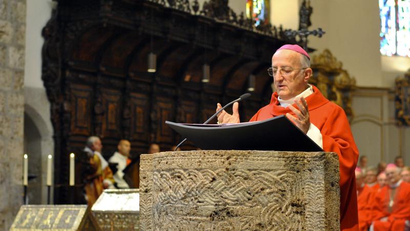 Le pape François a accepté la démission de Joseph Roduit, abbé de Saint-Maurice (Photo: Pierre Pistoletti)