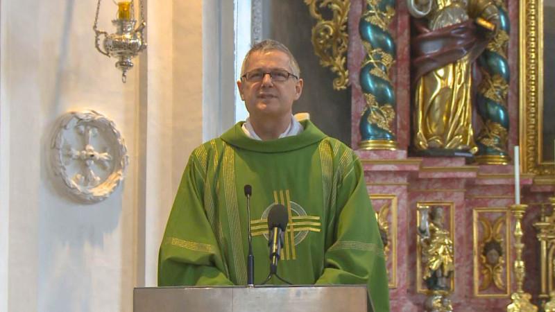 L'abbé Wendelin Bucheli, curé de Bürglen (photo kath.ch)