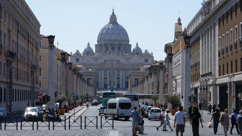 La Commission pontificale pour l'Amérique latine a son siège via della Conciliazione (photo Melchior Ettlin)