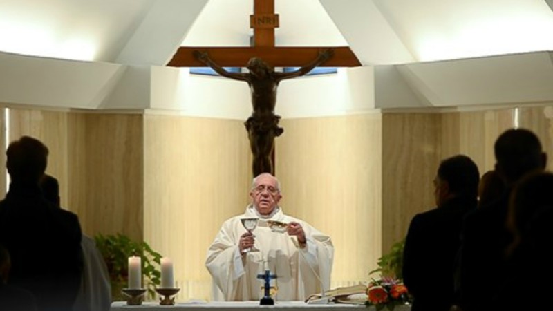 Pape François présidant la messe à la Maison Sainte-Marthe (Photo: Osservatore Romano)