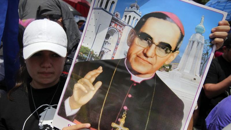 Béatification de Mgr Oscar Romero, le 23 mai 2015 à San Salvador (KEYSTONE/EFE/Rodrigo Sura)