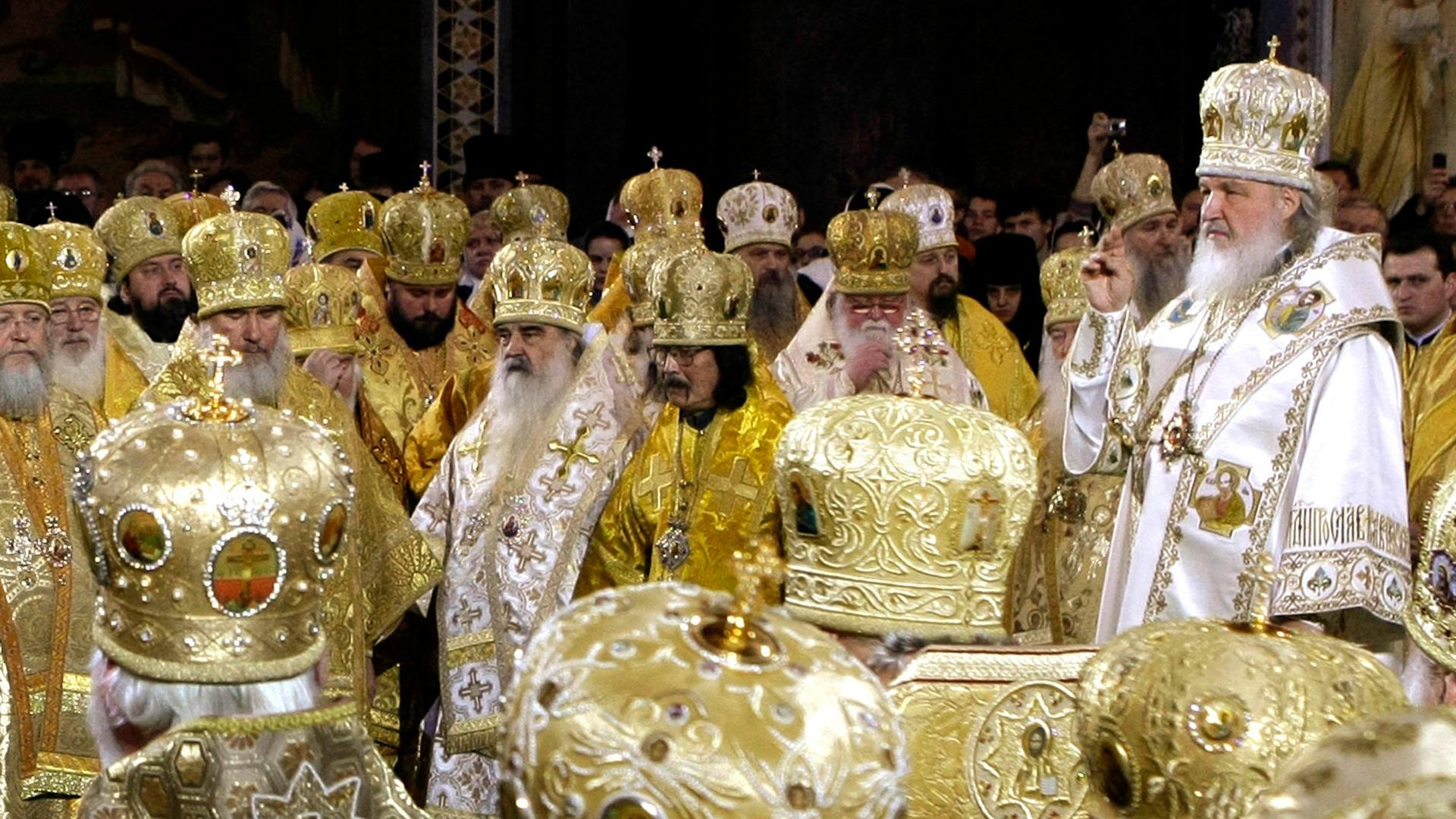 L'église orthodoxe russe envoyé