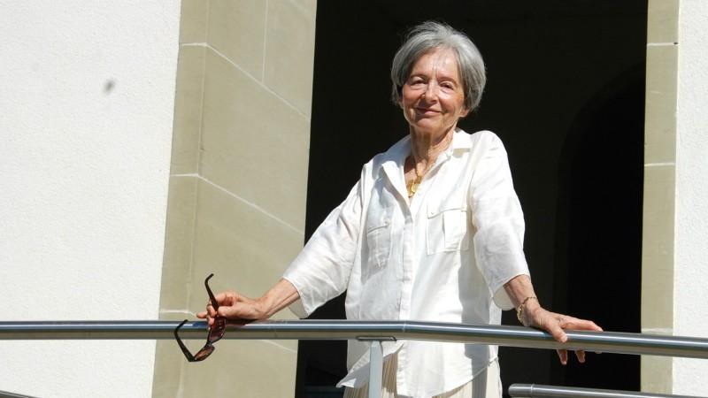 Gabrielle Nanchen aux 50 ans du Mouvement Chrétien des Retraités à Belfaux  (Photo: Jacques Berset)