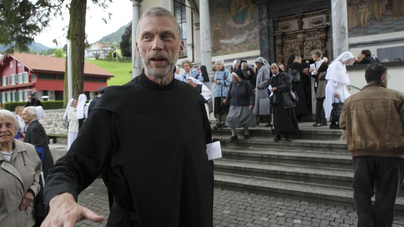 Peter von Sury, président de l'Union des supérieurs majeurs religieux de Suisse (USM) à Sachseln le 23 juin 2015 pour la  Journée de la vie consacrée. (Photo: Bernard Hallet)