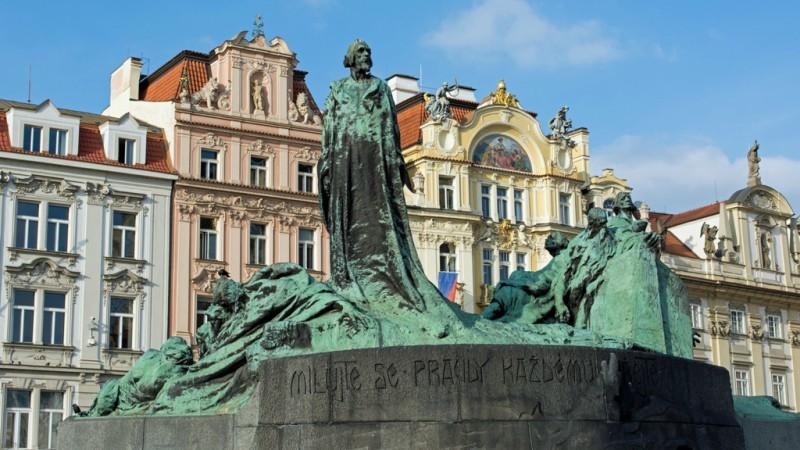 Le mémorial du réformateur Jan Hus, à Prague (Photo:Troy David Johnston/Flickr/CC BY-NC 2.0)