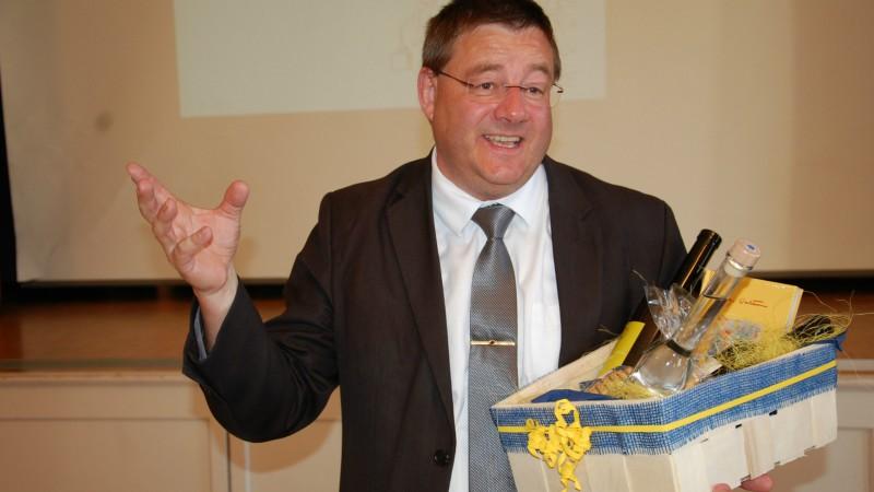 Melchior Etlin, administrateur de Kipa-Apic, lors de l'assemblée générale d'Olten (Photo: Jacques Berset)