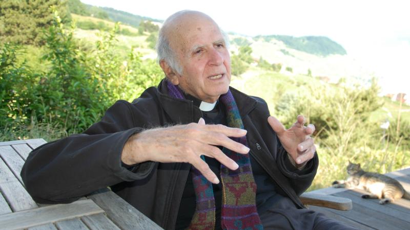 Père Henri Boulad, ancien directeur du Centre culturel jésuite d'Alexandrie (Photo: Jacques Berset)