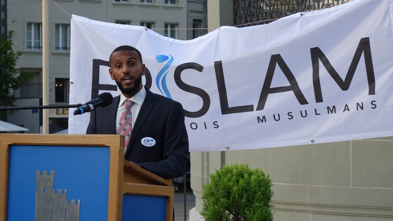 Hamsa Mohamed, Président de l'association Frislam, Fribourgeois musulmans (photo Maurice Page)